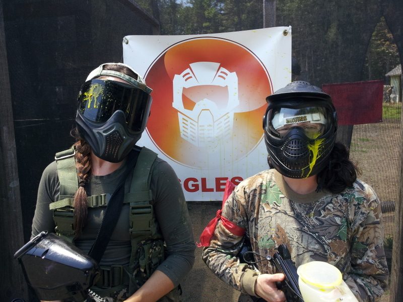 Maria and Val with Checkmate Martial Arts at AG Paintball