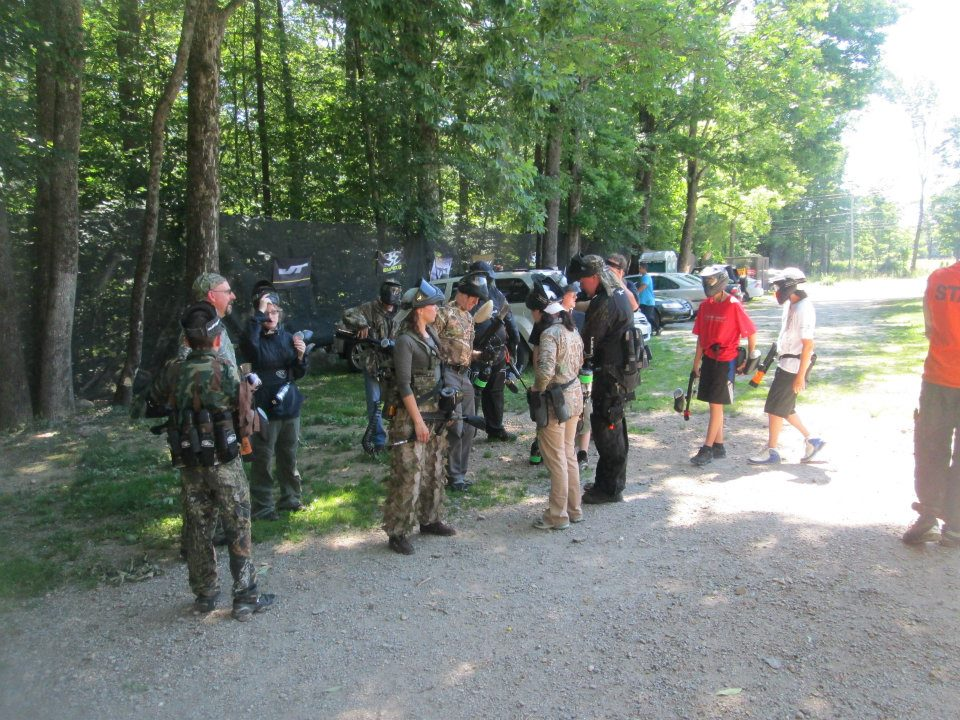 Getting ready for a game with Checkmate Martial Arts at AG Paintball