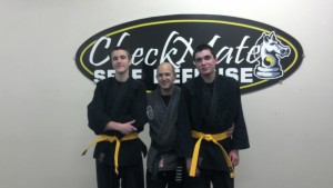 Andrew and Justin yellow 1/16/2012 Checkmate Martial Arts Manchester NH
